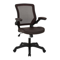 Modway - Modway EEI-291 Veer Office Chair in Brown - Chart new territory while seated from the comfort of the Veer Chair.