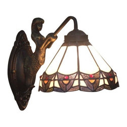 ParrotUncle - Black Baroque Tiffany Style Glass Pendant Wall Sconces - Black Baroque Tiffany Style Glass Pendant Wall Sconces