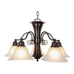 Premier - Five Light 24 inch Chandelier 617277 - Oil Rubbed Bronze - AF Lighting 617277 24in. W by 14-3/4in. H Wellington Lighting Collection 5 Light Chandelier, Oil Rubbed Bronze.