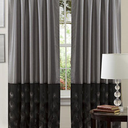 Lush Decor - Lush Decor Black/ Silver 84-inch Ovation Curtain Panel - Add a lovely touch to your decor with this stylish panel. This curtain features a rod pocket design for quick installation. Full lining provides extra privacy.