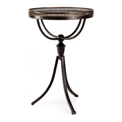 IMAX CORPORATION - Empire Gallery Tri-Footed Table - Traditional Empire Gallery Tri-footed table. Find home furnishings, decor, and accessories from Posh Urban Furnishings. Beautiful, stylish furniture and decor that will brighten your home instantly. Shop modern, traditional, vintage, and world designs.