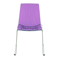 Calima Modern Purple Italian Dining Chair - Modern Dining Chair