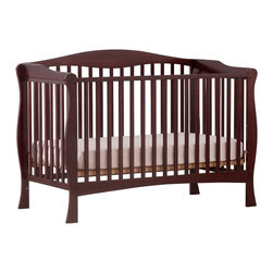 Stork Craft - Stork Craft Savona Fixed Side Convertible Crib in Cherry - Stork Craft - Cribs - 04550414 - The Savona collection by Stork Craft adds class to your nursery!  Designed with safety in mind it has a well built construction made of attractive solid wood and wood products offered in a variety of non toxic durable finishes. Set-up this extravagant nursery piece effortlessly with it's easy to follow directions  Complete your nursery look by adding an assortment of matching pieces by Stork Craft.