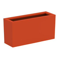 Decorpro - Medium Aberdeen Planter, Burnt Orange - The Aberdeen planter is perfect for indoor and outdoor use. Use this planter indoors to create an amazing garden for fresh herbs and vegetables. The slender depth and elongated width allows for a versatile range of placements and uses.