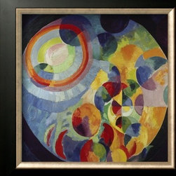 Artcom - Circular Shapes, Sun and Moon, 1912/31 by Robert Delaunay - Circular Shapes, Sun and Moon, 1912/31 by Robert Delaunay is a Framed Art Print set with a ALLEGRO Bronze frame.