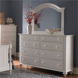 Broyhill Furniture - Hayden Place Drawer Dresser with Arched Mirror - 4649-230-2