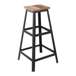 The Cora wood and metal barstool - The Cora Barstool