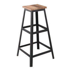 The Cora Wood And Metal Barstool The Cora Barstool