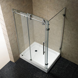 VG6051STCL48 - 36 x 48 Frameless Rectangular Shower Enclosure