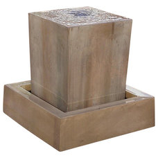 Contemporary Outdoor Fountains by Soothing Company