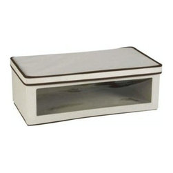 Household Essentials - Large Vision Storage Box - Our Large Vision Storage Box comes with a little more height than its smaller counterpart, the medium sized storage box. Its strong and durable construction and see-through window make it perfect for any use.Keep seasonal linens fresh and clean.
