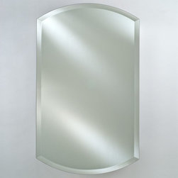 Afina - Afina Double Arch Recessed Medicine Cabinet - 20W x 32H in. - AFC163 - Shop for Bathroom Cabinets from Hayneedle.com! The Afina Double Arch Recessed Medicine Cabinet - 20W x 32H in. wants to improve your life and look great while doing so. The double-arch beveled mirror door-front can be mounted to open from either side and swings open to a full 150-degrees. The anodized aluminum frame will never succumb to rust and features no visible hinges. The interior houses three adjustable shelves and features a mirrored-back. Afina guarantees this piece with a three year manufacturer's warranty.About AfinaAfina Corporation is a manufacturer and importer of fine bath cabinetry lighting fixtures and decorative wall mirrors. Afina products are available in an extensive palette of colors and decorative styles to reflect the trends of a new millennium. Based in Paterson N.J. Afina is committed to providing fine products that will be an integral part of your unique bath environment.