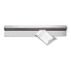 Paderno World Cuisine - 19 5/8-in. Long Stainless-Steel Tickets Holder - This 19 5/8-in. long stainless-steel order has ball bearings trapped in its upper section to retain orders and notes in the blink of an eye.