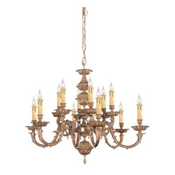 Crystorama - Light Ornate Cast Brass ChandelierOxford Collection - The Oxford Collection's Olde Brass finish and ornate designs make this European series a perfect fit for any traditionalist.