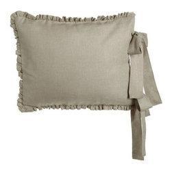 "French Laundry Home - French Laundry Home Standard Linen Sham - Linen, satin, washed velvet, and more comprise French Laundry Home's Aimee collection. Made of linen, cotton, polyester, and viscose. Select Natural or Cream when ordering. Duvet covers are linen with 3"" linen ruffle. Linen shams have 1"" linen ruffle..."