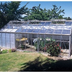 "Juliana Gardener 2700 11.75 x 24.6-Foot Greenhouse Kit - Additional features:Door dimensions: 45W x 72H inchesPeak height: 8.6 ft.Sidewall height: 5.25 ft.Tough Scandinavian construction ensures frames withstand the harshest climatic conditionsUV-coated polycarbonate panels are virtually unbreakable and offer 83% visible light transmissionRoof is pitched at 30 degrees to drain away rain, offering excellent ventilationRoof windows can be opened horizontally for increased ventilationManual vents included; automatic vents can be purchased separately Integral gutter designed to take downpipesBase perimeter of galvanized steel to anchor green house to groundIncludes ground stakes that secure to concrete footingsCan accommodate partition walls to allow different growing conditions in the separated sections of the greenhouseDetailed, illustrated assembly instructionsAll mounting hardware included12-year manufacturer's warranty With its spacious growing area, the Juliana Gardener 2700 11.75 x 24.6-foot Greenhouse Kit is perfect for home gardeners, market farmers, and commercial growers. It accommodates partition walls which would allow different growing conditions in the separated sections of the greenhouse. While advanced, twin-wall construction featuring polycarbonate panels offer up to 40% better insulation than single pane glass, the virtually unbreakable panels allow 83% visible light transmission. The UV coating on the panels shields your plants against the harmful rays of the sun. The sturdy, reinforced aluminum frame, designed to withstand the extreme conditions in northern climates, boasts a tough Scandinavian construction, which is up to 50% stronger than other frames. It can even be used in conjunction with a propane heater(25,000 BTUs is recommended- not included) for cold-season growth.The double hinged doors allow a wheelbarrow or a small garden tractor to pass through easily. Designed with a key lock, one of the doors is a ""Dutch"" or ""stable"" door, allowing for easy ventilation. Four double windows with adjustable roof vents ensure maximum air circulation, providing fresh air to the plants. The galvanized base kit is included to provide extra stability during a storm. The 12-year manufacturer's warranty offers peace of mind and lets you enjoy gardening without any worries. Assembly is a weekend project for one or two people.About Juliana GreenhousesJuliana has been a premiere greenhouse manufacturer for over 40 years, originating in Scandinavia and expanding into the U.S. with Juliana America in 1991. Juliana is currently the largest distributor of greenhouses in the U.S. and offers high-quality greenhouses and greenhouse kits at unbeatable prices. Juliana greenhouses and greenhouse kits combine weather-tough durability with experience-driven design, providing the optimal growing environment for plants."