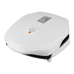 Salton - George Foreman 36-inch Grill - The patented sloped design and double nonstick coating allow fat and grease to drain away from food,while Signature Foreman heating elements provide even heat from the center to the sides of the plate and faster temperature recovery time.