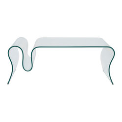 Fausta Glass Coffee Table-Clr - Clear bent glass, 12mm thickFully assembled