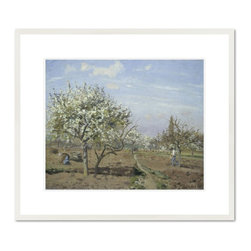 Orchard in Bloom, Louveciennes, 1872 - Camille Pissarro, Orchard in Bloom, Louveciennes, 1872. National Gallery of Art.
