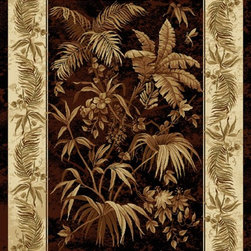 """United Weavers - Country & Floral China Garden 7'10""""x10'6"""" Rectangle Black Area Rug - The China Garden area rug Collection offers an affordable assortment of Country & Floral stylings. China Garden features a blend of natural Black color. Machine Made of Olefin the China Garden Collection is an intriguing compliment to any decor."""