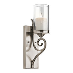 Kichler Lighting - Kichler Lighting 45362CLP Lara Classic Pewter Wall Sconce - Kichler Lighting 45362CLP Lara Classic Pewter Wall Sconce