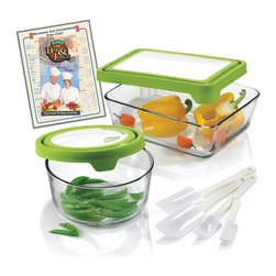 Anchor Hocking - Anchor Hocking 10-piece Storage Bowl Set - Store your delicious foods with this ten-piece storage bowl set from Anchor Hocking. With a variety of different sizes, these clear storage bowls and lids finish this set.