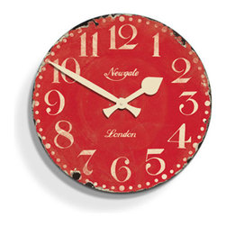 Farmhouse Kitchen Wall Clock - This wall clock would look great in a Victorian row house or a modern kitchen, which is why it's the perfect timepiece for any home. A little bit rustic, a little bit modern eclectic, this wall clock will add a delightful punch of color to any space.