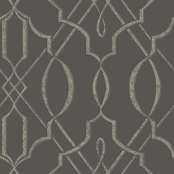 Walls Republic - Arabesque Design Wallpaper, Grey, Sample - The pattern is influenced by traditional Arabesque design with contemporary twists. With its neutral colour palette, it can be matched with almost any pieces of furniture.