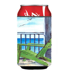 Caroline's Treasures - Adirondack Chairs Can or Bottle Hugger 8085 - Can Cooler - this collapsible koozie fits 12 ounce beverage. Cans or bottles. Permanently dyed and fade resistant. Will not crack or peel. Great to show off your breed. Match with one of the insulated coolers for a nice gift pack.