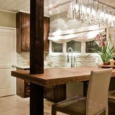 Eclectic Kitchen by nicole facciuto design