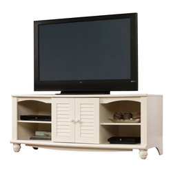 Sauder - Sauder Harbor View Entertainment Credenza in Antiqued White - Sauder - TV Stands - 403679 -