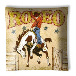 """Western Rodeo Cowboy Ceiling Light - 12"""" square semi flushmount ceiling lamp with designer finish. Includes complete installation instructions and complete light fixture. Wipes clean with a damp cloth. Uses 2-60 watt bulbs (not included) and is made with eco-friendly/non-toxic products. This is not a licensed product, but is made with fully licensed products."""