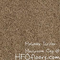 Mohawk Carpet Thriller - Mohawk Thriller, Mushroom Cap 12' Everstand constructed polyester carpet. Available at HFOfloors.com.