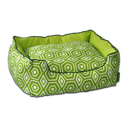 ez living home - Honeycomb Couch Bed Lime, Medium - *Aesthetically pleasing geometric pattern, EZ to decorate with, suitable for any style.