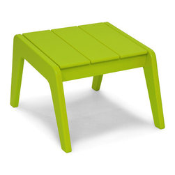 Loll Designs - No. 9 Ottoman, Leaf Green - Designed by T.J. Thomas and Audra Bielskus of Studio Murmur for Loll. The No.9 Collection is made from 100% post-consumer waste and manufactured by Loll in Duluth, Minn. The No. 9 stays out all night and is up early to greet you for morning coffee or afternoon lollygagging. Ships flat and assembly is a piece of cake. Pairs with No. 9 Lounge Chair.