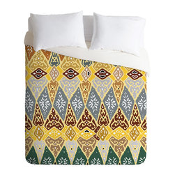 DENY Designs - Romi Vega Diamond Tile Duvet Cover - Turn your basic, boring down comforter into the super stylish focal point of your bedroom. Our Luxe Duvet is made from a heavy-weight luxurious woven polyester with a 50% cotton/50% polyester cream bottom. It also includes a hidden zipper with interior corner ties to secure your comforter. it's comfy, fade-resistant, and custom printed for each and every customer.