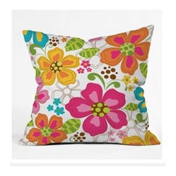Khristian A Howell Kaui Blooms Throw Pillow