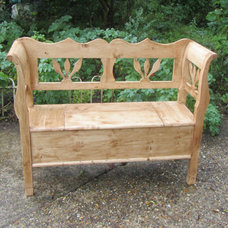 Wooden Pine Bench - Seat - Box Bench - Hall Seat | eBay