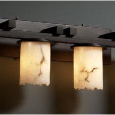 Justice Design LumenAria Dakota 4-Light Straight-Bar Bath Bar in Dark Bronze FAL