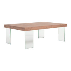 Eurostyle - Euro Style Cabrio Collection Coffee Table in Clear/Walnut - Coffee Table in Clear/Walnut in the Cabrio Collection by Eurostyle