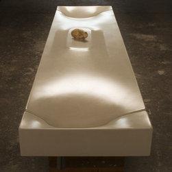 Organic Zen Modern Dual Vanity Concrete Sink by Gore Design Co. - ©2014 Gore Design Co., LLC
