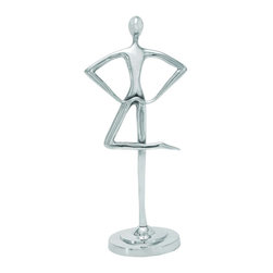 Interior Balance Aluminum Flow Sculpture - A metallic body is crafted skillfully from corrosion-resistant aluminum by Indian artisans to create this stunning focal sculpture for your room. Allow the balance of this dancing, lustrous body to reflect your inner inspired spirit, and add new dimensions to your home décor.