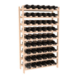 Wine Racks America - 54 Bottle Stackable Wine Rack in Ponderosa Pine, (Unstained) - Three times the capacity at a fraction of the price for the 18 Bottle Stackable. Wooden dowels enable easy expansion for the most novice of DIY hobbyists. Stack them as high as you like or use them on a counter. Just because we bundle them doesn't mean you have to as well!