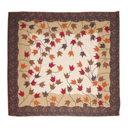 Patch Quilts - Autumn Leaves Quilt King 105 x 95 - - Intricately appliqued and beautifully hand quilted.Bedding ensemble from Patch Magic  - The Name for the finest quality quilts and accessories  - Machine washable.Line or Flat dry only Patch Quilts - QKAULV