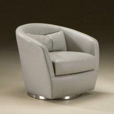 Thayer Coggin Turn Memory Swivel Chair