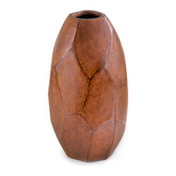 Unique Large Brown Vase - Handcrafted clay pottery
