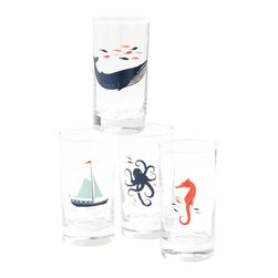 Captain's Lager Glass Set - It'll feel like you're sipping saltwater — kidding! These are super playful and ready to keep summer hanging around all year long.