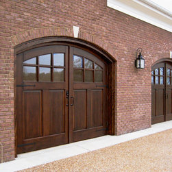 Real Carriage Doors - Genuine outswing carriage doors built from beautiful wood species.