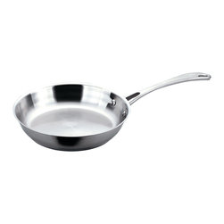 "Berghoff - Berghoff Copper Clad Stainless Steel Fry Pan 12'' - 10"" Fry pan is made with 18/10 Surgical Stainless steel on outer surface. Patented sandwich base with a copper core for fast and even heat distribution. Works on all cook tops, including induction."
