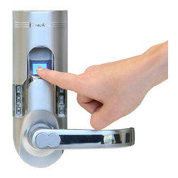 iTouchless - iTouchless Fingerprint Recognition Keyless Door Lock, Silver, Right Handle - So many unpleasant things can result from losing your keys. For one, you are locked out, and then a stranger may find the keys for you, presenting a perfect opportunity to break in. This now causes you to dig into your wallet to buy a brand new door lock, and take more time out of your busy life to go to the store, schedule an appointment with a locksmith, just to wonder how soon it will be before this will all happen again. Don't let your worries take over your life. Enjoy every second of it in peace with your very own personal Bio-Matic Fingerprint Deadbolt Door Lock. Never lose your key again, and put your unique fingerprint to good use!